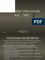 Negotiable instrument and SARFAESI Act