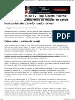 Reparaciones de Etapas de Salida Horizontal Sin Transformador Driver « Curso Completo de TV