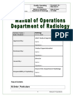 Radiology Procedure Manual