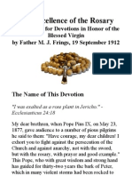 Excellence of the Rosary, By Father M J Frings