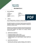 00 UCSS - Sílabo Matematica II
