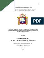 Análisis de La Situacion Economica, Financiera de Las Empresas de Transporte Publico de Pasajeros