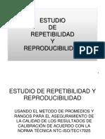 Estudio de Repetibilidad y Reproducibilidad