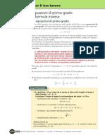 Equazioni Di Primo Grado e Formule Inverse