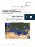Evaluación Grecia 7mo