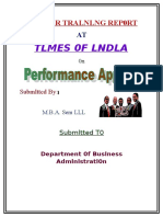 4646469 Project on Times of India