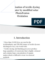 Decolourisation of Textile Dyeing Wastewater by Modified Solar Final