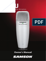 Micrófono - Manul de instrucciones C01U_OM_5L_v5
