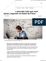 4 Passos Para Aprender Tudo Que Você Quiser, Segundo Um Nobel Da Física - BBC Brasil