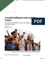 A Tensão Indígena Com a Gestão Temer _ Brasil _ EL PAÍS Brasil