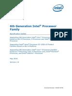 Desktop 6th Gen Core Family Spec Update