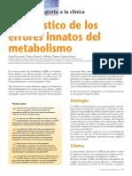 Diagnóstico de Los Errores Innatos Del Metabolismo