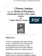 Saint Thomas Aquinas of the Order of Preachers, By Father Placid Conway