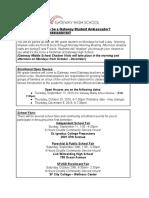 student ambassador application 2016-17