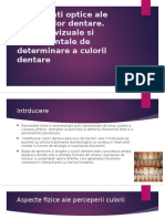 Proprietati Optice Ale Structurilor Dentare