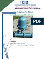 Etude et conception d'un belier hydraulique