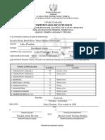 Certificado Isabel 1ero 3ro Bilingüe