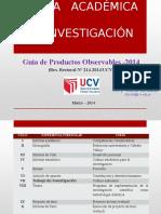 Prod.observables 2014 VII CIclo