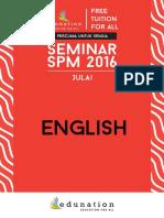 ENGLISH July Seminar