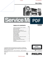 Philips FWC700 Service Manual