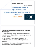 Educatia Tehnologica Cl v Vi.