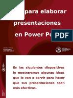 Tips Para Elaborar Presentaciones en Ppt