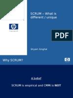 SCRUM-Differentiation