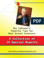 A collection of 10 Special reports Ron LeGrand