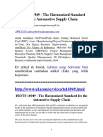 ISO-TS 16949 Automotive Quality Standard