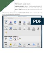 Config DNS en MAC