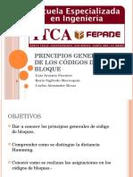 Principios Generales de Los Códigos de Bloque