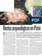 Restos arqueológicos en Puná