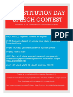constitution day speech contest flyer