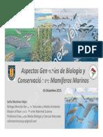 Aspectos Generales de Biología y Conservación de Mamíferos Marinos