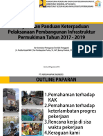 Penyusunan Panduan Keterpaduan Pelaksanaan Pembangunan Infrastruktur Permukiman Tahun 2017 - 2019