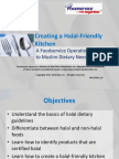 Halal Kitchen in-Service Guide for Foodservice Operators