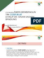 Dr. Ayi Djembarsari - Rshs - Membangun Tim Code Blue Di Rshs