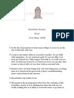 Horatius Bonar - 31st May 1898