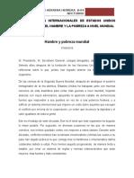 Discurso de Intenacional - Xander Herrera - Estados Unidos
