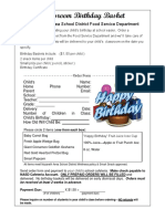 Birthday Basket Order Form