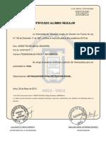 Certificado Alimno Regular Felipe