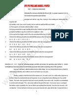 IBPS Pos Prelims Modelpaper11