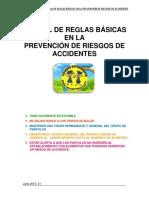 Manual de Reglas Basicas en La Prevencion de Riesgos de Accidentes Villapeques (Junio 2013, V.1)