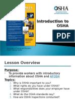 Intro to OSHA 2012 AFOSH Portion - Steve Carwell