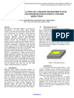 DESIGN AND SIMULATION OF U-SHAPED MICROSTRIP PATCH ANTENNA WITH BANDWIDTH ENHANCEMENT AND SIZE REDUCTION