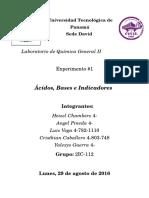 Informe de Quimica 1 Acidos y Bases