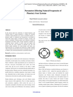 Investigation of Parameters Effecting Natural Frequencies of Planetary Gear Systems