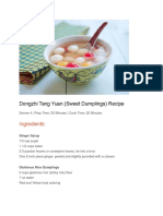 Dongzhi Tang Yuan