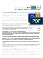 Will Infosys Strategy of Splitting Its Business Into Smaller Units Work_ - The Economic Times