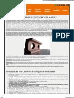 Ladrillos Ecomodulares _ ¿Qué Son